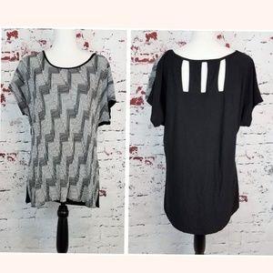 PERSEPTION WOMAN Black & White Blouse Women's 1 X